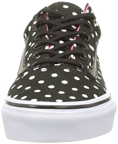 Vans Old Skool, Baskets Basses Mixte Enfant Noir (Polka Dots/Black)