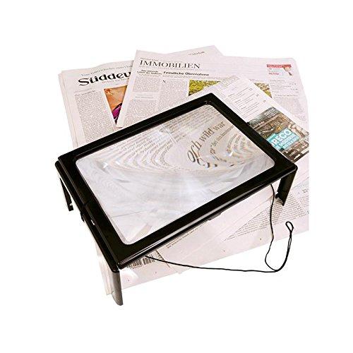Tisch- und Handarbeitslupe, Lupe mit Füßen und LED Lampen, Sehhilfe
