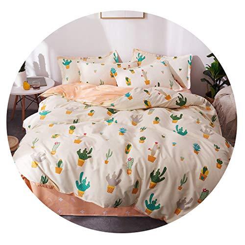 New Outpost 3 / 4Pcs / Set Cartoon-rosa Bettwäsche-Sets geometrisches Muster Bett Auskleidungen 5 Größen Leopard Bettbezug Bettlaken Kissen- Bezug-Set, SHUIMOJIANGNAN007, König -