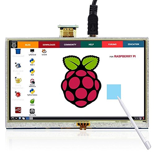 Touchscreen für Himbeere Raspberry, The perseids 5 Inch HDMI LCD 800 * 480 High Resolution for Raspberry Pi 2 Model B/Raspberry Pi Model B/B/A/Raspberry Pi 3 Model B (MEHRWEG)