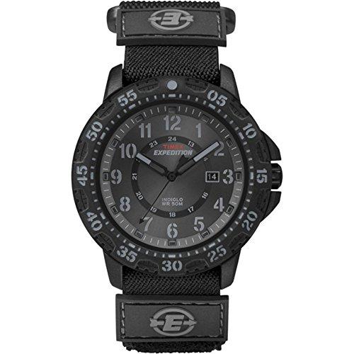 Timex - Homme - T49997 - Expedition - Quartz Analogique - Noir - Noir - Cuir