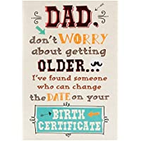 Hallmark Birthday Card for Dad, Birth Certificate - Medium