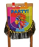 Stuhldeko Indianer - Indianerzelt Stuhl Essen Kinder Kinderparty Pappe Pferd Jungen Stuhl Party bunt
