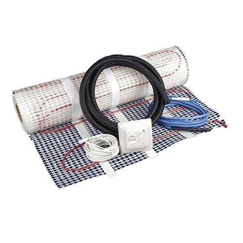 Philex Heating - Kit de calefacción eléctrica bajo suelo, de 2 m², incluye termostato, blanco, 45002R