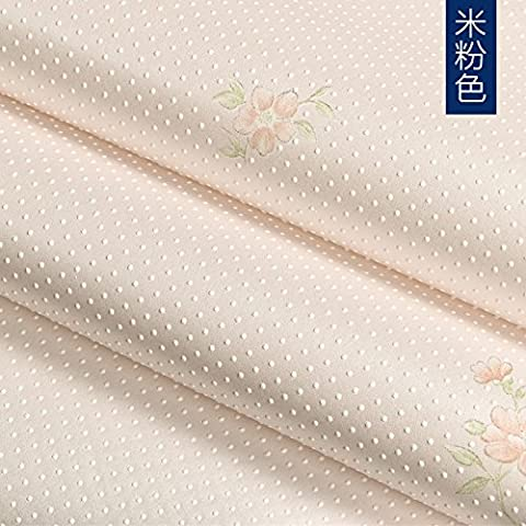 Yifom Papel tapiz idílico salón TV de pared de fondo papel tapiz no tejidas dormitorio de lujo sombra perlado Flor,1