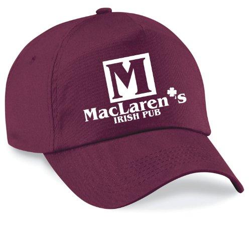 Basecap HOW I MET YOUR MOTHER MAC LAREN`S IRISH PUB Cap Capy Größe Unisex, Farbe burgundy