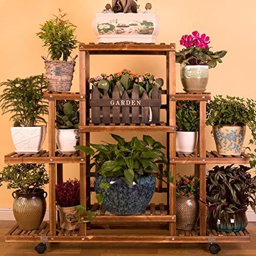 LLYU Escaliers de fleurs par Multi-Layer Flower Cabine Escaliers d'échelle de fleurs Stall Stand de fleurs en bois