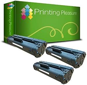 3 Compatible C 4092 A / 92 A Cartouches de Toner pour HP Laserjet 1100 1100A 1100A SE 1100A XI 1100 SE 1100 XI 3200 3200 M 3200SE 3200XI - Noir, Grande Capacité