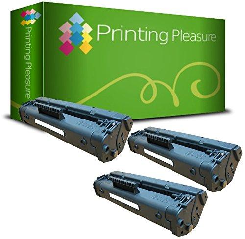 Printing Pleasure 3 Toner kompatibel zu C4092A 92A für HP Laserjet 1100 1100A 1100A SE 1100A XI 1100 SE 1100 XI 3200 3200 M 3200SE 3200XI - Schwarz, hohe Kapazität - Drucker Hp 92 Patrone