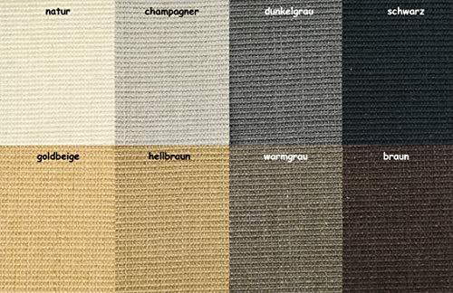 Kratzbaumland Premium-Sisalteppich für Kratzmöbel/Kratzbretter/Kratzbäume: Muster 10x10 cm, Farbe: schwarz -