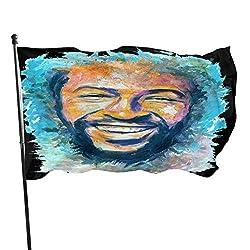 LZHANDA Garten Flaggen Viplili Flagge Fahne, Marvin Gaye 3x5 Ft Outdoor Garden Flag