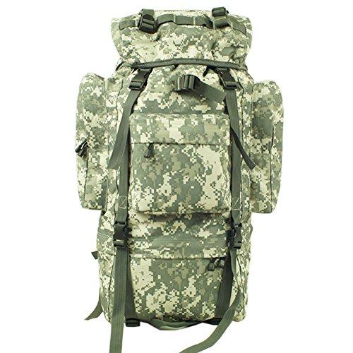 aofit 100L grande capacità zaino militare combattimento tattico Zaino Trekking Zaino Outdoor Sport Zaino Zaino multifunzione con telaio in alluminio a forma di U borsa da viaggio campeggio zaino da es ACU camouflage