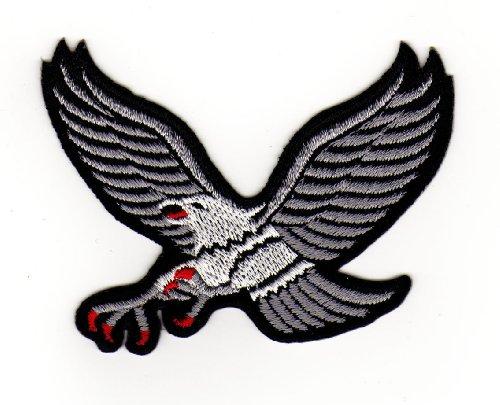 Aufnäher Bügelbild Aufbügler Iron on Patches Applikation Silber Adler Eagle (Nähen Adler)