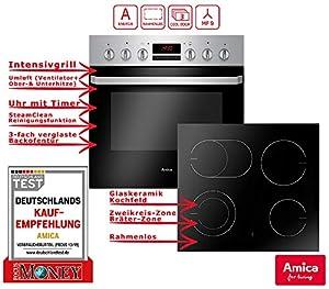 Amica EHC 933 015 E Einbauherd Set | 9-fach Multifunktion Backofen mit Grill...