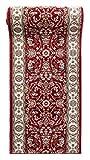 Läufer Teppich Flur in Rot - Orientalisch Klassischer Muster - Brücke Läuferteppich nach Maß - 100 cm Breit -
