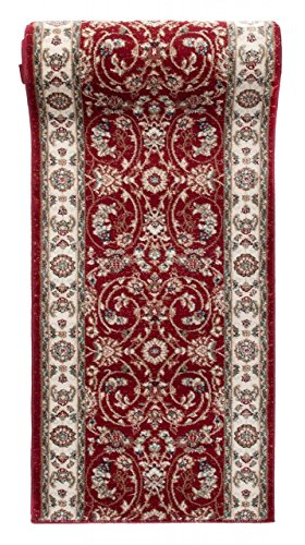 """Alfombra de pasillo - Diseño Oriental Tradicional Clásica - Alta calidad - Colección """" AYLA """" de Carpeto - Rojo - 80 x 300 cm"""