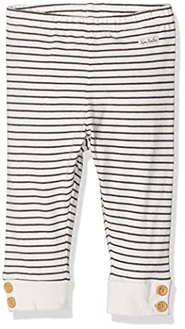 TOM TAILOR Kids Baby-Mädchen Striped Leggings with Buttons, Weiß (Soft Clear White 2067), 68 (68)