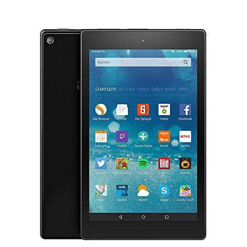 Fire HD 8-Tablet, 20,3 cm (8 Zoll), HD-Display, WLAN, 8 GB (Schwarz) - mit Spezialangeboten