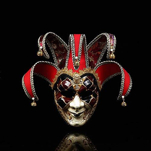 Mädchen Hacker Kostüm - HXLF Halloween Frauen Mädchen Party Maske Venedig Masken Party Supplies Maskerade Maske Weihnachten Halloween Venezianische Kostüme Karneval Anonym Masken (Color : Rot)
