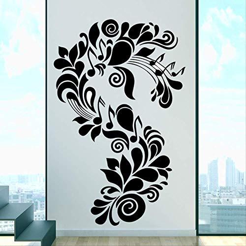 rGroße Kunst Pflanze Vinyl Küche Wand Aufkleber Tapete Baby Kinderzimmer Dekorative Aufkleber Haus Dekorative Raum Dekoration XL 58 cm X 90 cm schwarz ()