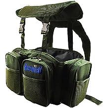 gossipboy verde nailon grande multifunción Multi–bolsillos mochila de pesca peces caja Lure caso de la mochila mochila equipo de pesca y bolsa de accesorios