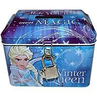 Disney Frozen Die Eiskönigin Spardose mit Schloss und Schlüssel Winter Queen preisvergleich bei kinderzimmerdekopreise.eu