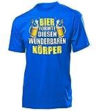 Bier Formte Diesen Wunderbaren Körper 4862 Herren T-Shirt (H-B) Gr. XXL