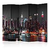 murando - Biombo XXL Nueva York 225x172 cm - de impresión Bilateral en el Lienzo de...