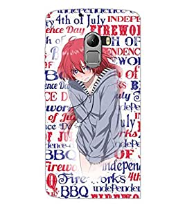 PrintDhaba Cute Girl D-2709 Back Case Cover for LENOVO K4 NOTE A7010 (Multi-Coloured)