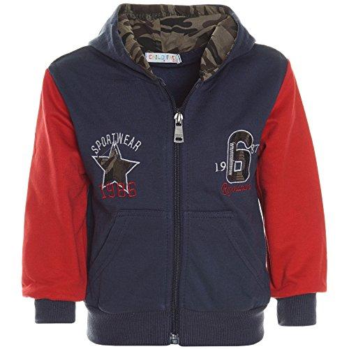 Baby Jungen Hoodie Pullover Jacke Kapuzen Sweatshirt Sweatjacke 21234, Farbe:Navy;Größe:92 (Jungen Kleid T-shirt Größe 18)