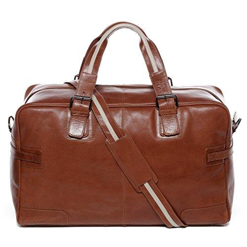 BACCINI Weekender Leder ROBERTO groß Sporttasche Herren 28l Reisetasche echte Ledertasche Herrentasche 50 cm braun