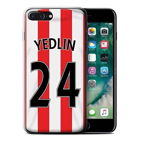 Officiel Sunderland AFC Coque / Etui Gel TPU pour Apple iPhone 7 Plus / Yedlin Design / SAFC Maillot Domicile 15/16 Collection Yedlin