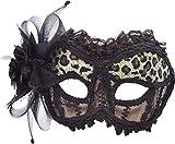 Bristol Novelty em740Leopard/transparent Maske, Damen, Mehrfarbig, One Size