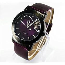 Sunnywill Mode Luxus Diamant hübsche Quartz Wrist Watch rot für Frauen Mädchen Damen