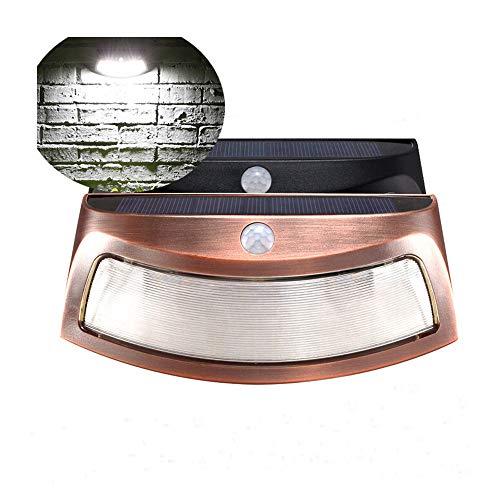 Renile 8 LED Smiley Infrarot-Sensorleuchte Solarleuchte Induktionslampe Wandleuchte Outdoor Gartenleuchte bronze -