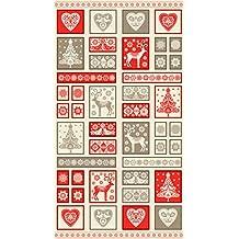 Escandinavo Holiday de adorno de tela para almazuela Panel Makower 14831