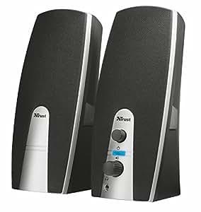 trust mila enceinte pc 2 0 pour ordinateur 10 watt. Black Bedroom Furniture Sets. Home Design Ideas