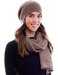 e8112eaa16a3 HILLTOP - Ensemble d hiver de foulard d hiver et bonnet assorti Bonnet
