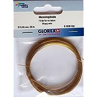 GLOREX Messingdraht 0,4 mm, Draht, Braun, 12 x 8.6 x 0.1 cm