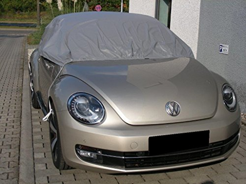 Kley & Partner Halbgarage Auto Abdeckung Plane Haube wasserdicht Material California Light kompatibel mit Volkswagen VW New Beetle Cabrio ab 2012