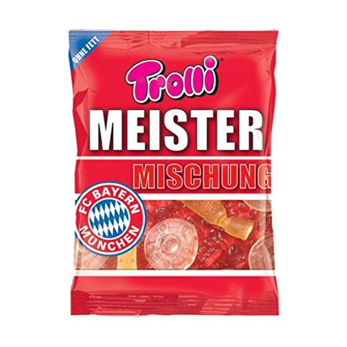 Meister Mélange + GRATIS Stickers FC Bayern Munich, Munich?300g Bonbons caoutchouc Ours
