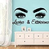 zxddzl Ojos de Colores salón de Belleza Etiqueta de La Pared Pegatinas de Pared Extraíbles DIY Wallpaper para Habitaciones de Niños DIY PVC Accesorios de Decoración del hogar-88x42 cm