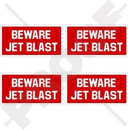 Vorsicht vor Jet Blast Aircraft Hubschrauber USAF 5,1cm (50mm) Vinyl Sticker, Aufkleber X4 -