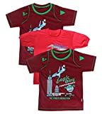 DT GARMENTS Boys' T-Shirts -Pack of 3 (DT Garments 031--XXL, Multi-Coloured, XX-Large)