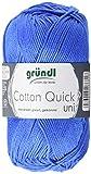Gründl Cotton Quick Uni, Vorteilspack 10 Knäuel, Mittelblau Handstrickgarn, Baumwolle, 29 x 12 x 7 cm,