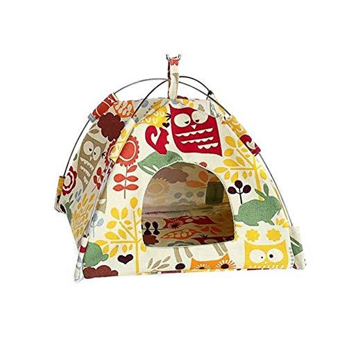 HshDUti Katzen Betten Aktivitätscenter Hamster Vogel Papagei Zelt Haus Hängematte Hängenest Bett Weiche Auflage Heimtierbedarf-1# S