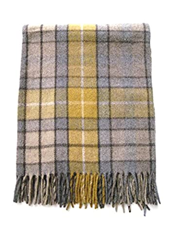 Highland Scottish Tartan alle Wolle Knie Teppich – Natural Buchanan