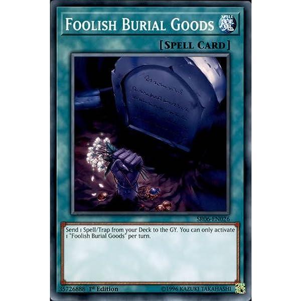 1x Common Foolish Burial Goods SR06-EN026 1st Edition