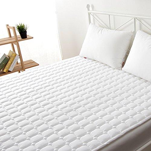 Pad matratzenbezug überfüllt Geldklammer Tatami matte,Hypoallergene gesteppte matratzenauflage Kühlung-matratzenauflage Hotel weichen weißen bett matratzenauflage,Tiefe tasche ausgestattet rock-A 150x200cm(59x79inch)