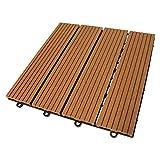 TOP MULTI WPC Holz Fliese 30x30cm, 1 m² (11 Fliesen)light-brown versandkostenfrei (D)